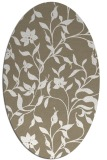rug #213557 | oval mid-brown rug