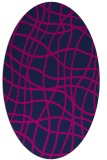 rug #218725 | oval pink rug