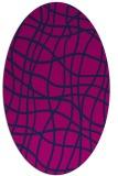 rug #218726   oval check rug