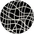rug #219405 | round black rug