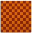 rug #220361 | square red-orange rug