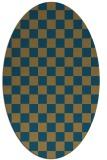 rug #220480 | oval check rug