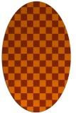 rug #220713 | oval check rug