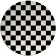 rug #221166   round check rug