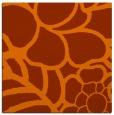 rug #222121 | square red-orange rug