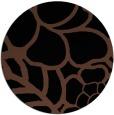 rug #222937 | round black rug
