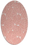 rug #225957 | oval pink rug