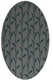 rug #231145 | oval green rug