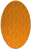 rug #231361 | oval light-orange rug
