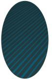 rug #232857 | oval blue-green rug