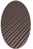 rug #232885   oval blue-violet rug