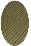 rug #233109 | oval light-green rug