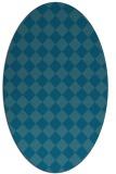 rug #234591   oval check rug