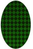 rug #234605 | oval green rug