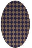rug #234646   oval check rug
