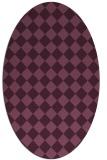 rug #234700   oval check rug