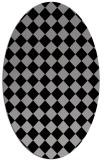 rug #234710 | oval check rug