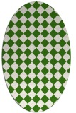 rug #234711 | oval check rug