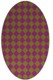 rug #234767   oval check rug