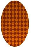 rug #234794   oval check rug