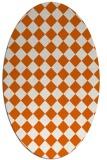 rug #234805 | oval red-orange rug
