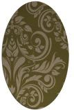 rug #245217 | oval brown rug