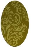 rug #245417 | oval light-green rug