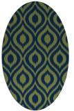 rug #250413 | oval green rug