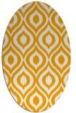 rug #250713 | oval light-orange rug