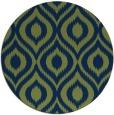 rug #251117 | round green rug