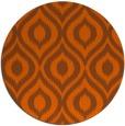 rug #251345 | round red-orange rug