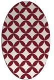 rug #252349 | oval pink rug