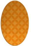 rug #252481 | oval light-orange rug