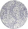 rug #258401 | round blue rug