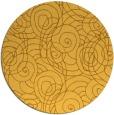 rug #258425   round light-orange rug