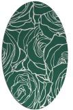 rug #259309 | oval green rug