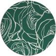 rug #260013 | round green rug