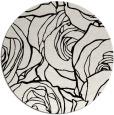 rug #260153 | round black rug