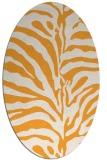 rug #268325 | oval light-orange rug