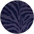 rug #268765 | round blue-violet rug