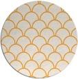 rug #272549   round light-orange rug