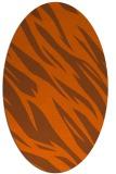 rug #273521 | oval red-orange rug