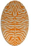 rug #275333 | oval orange rug