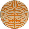 rug #276037 | round orange rug