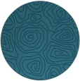 rug #281049 | round blue-green rug