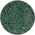 rug #281205 | round yellow rug