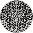 rug #282765 | round black damask rug