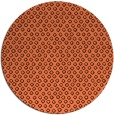 rug #290001 | round red-orange rug