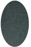 rug #292745 | oval green rug