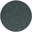 rug #293449 | round green rug